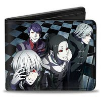 4 Ghouls Walking Up Stairs Checker Tiles + Tokyo Ghoul Bi Fold Wallet One Size - One Size Fits most