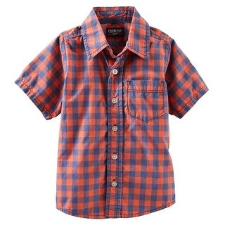 Osh Kosh Boys 2T-4T Check Plaid Woven Shirt