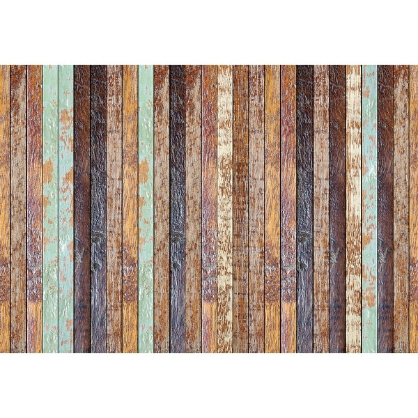 """Brewster WG5192-4P-1 Vintage Wooden Wall 100"""" x 144-3/4"""" Non-Pasted Repositionable Vinyl Coated Paper Mural - 4 Panels"""