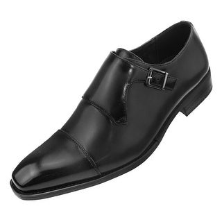 Amali Mens Monk Strap Perforated-Burnished Toe