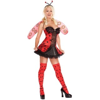 Ladybug Playboy Adult Costume Kit: Large - Black
