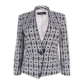 Nine West Women's One-Button Jacquard Jacket