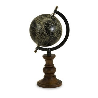 "12"" Photo Negative Spinning Desk Globe with Column Base"