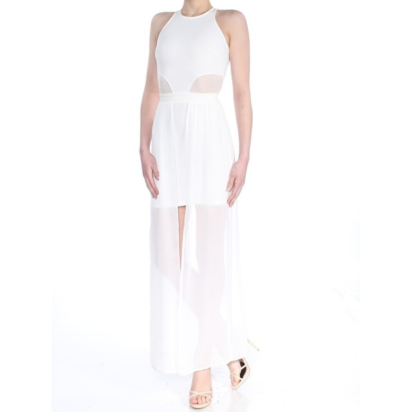 87d37b31a9 MATERIAL GIRL Womens Ivory Maxi Body Con Formal Dress Juniors Size: 2XS
