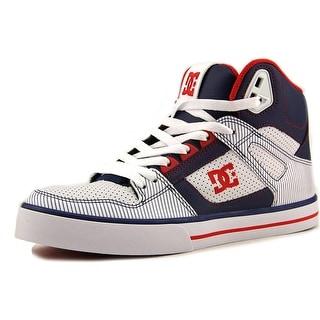 DC Shoes Spartan HI WC SE Men Round Toe Suede White Skate Shoe