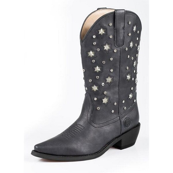 Roper Western Boots Womens Light Crystal Black 09-021-1552-0973 BL