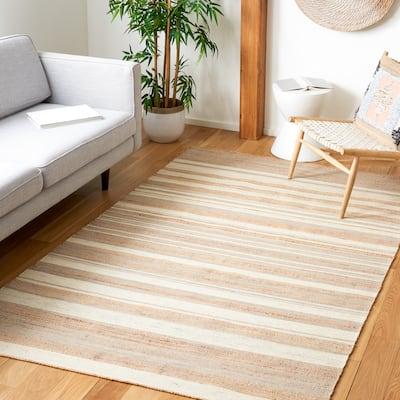SAFAVIEH Handmade Kilim Nihada Stripe Jute & Wool Rug
