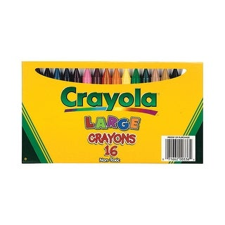 Crayola Large Size Crayons in Lift Lid Box, Pack of 16