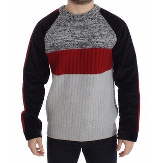 Dolce & Gabbana Knitted Wool Cashmere Crewneck Sweater Pullover