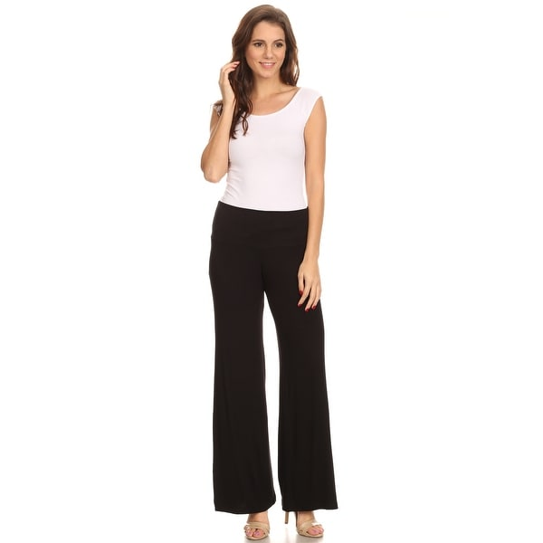 Shore Trendz Women's Wide Leg Boho Palazzo Pants Made in the USA