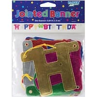 """Happy Birthday - Jointed Banner 4.25""""X4.75'"""