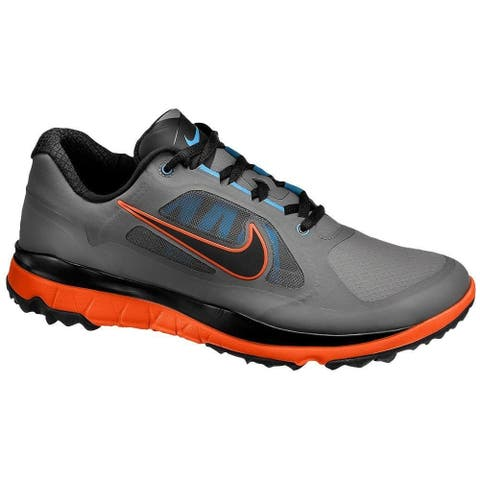Nike Men's FI Impact Black/Venom Dark Grey/Orange Golf Shoes 611510-001