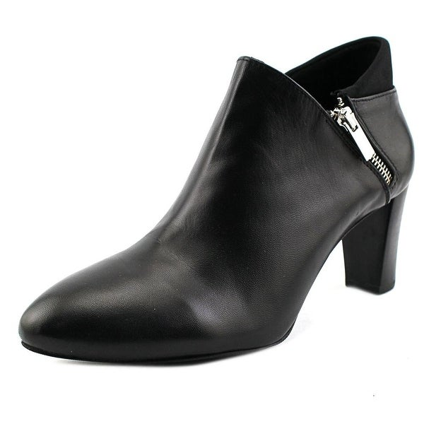Alfani Errane Women Round Toe Leather Bootie