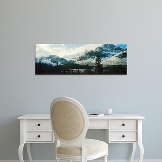 Easy Art Prints Panoramic Image 'Mountain range, Crowfoot Glacier, Banff National Park, Alberta, Canada' Canvas Art