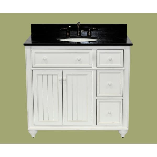 Sagehill Designs Cr3621dn Designer White Cottage Retreat 36 Bathroom Vanity Cabinet Only With 3 Drawers Overstock 16651507