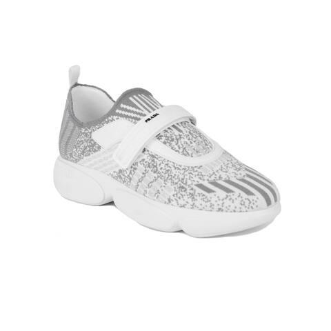 PRADA Women's Knit Fabric Cloudbust Sneakers Shoes White/Grey