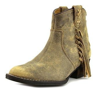 Very Volatile Vintage   Round Toe Leather  Ankle Boot