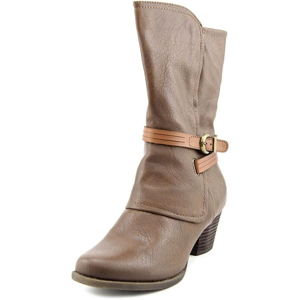 Baretraps Rossy Women  Round Toe Synthetic Brown Mid Calf Boot