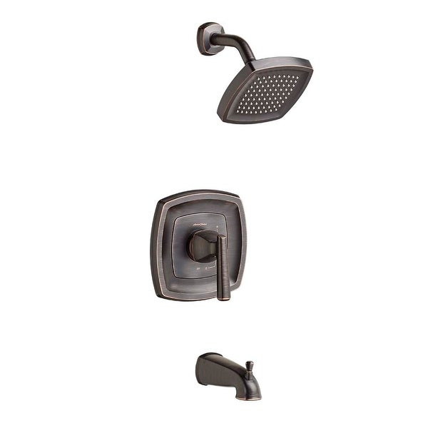 American Standard T018.502 Edgemere Tub and Shower Trim Package with 2.5 GPM Single Function Shower Head