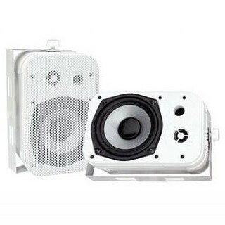 Pyle Audio PYLPDWR40WW Pyle Home PDWR40W 5.25- Inch Indoor/Outdoor Waterproof Speakers (White)