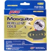 Pic C-4-36 Mosquito Repellent Coils, Burn 5 to 7 Hours, 4 Coils
