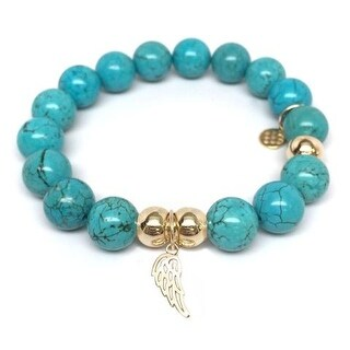 Julieta Jewelry Angel Wing Charm Turquoise Magnesite Bracelet