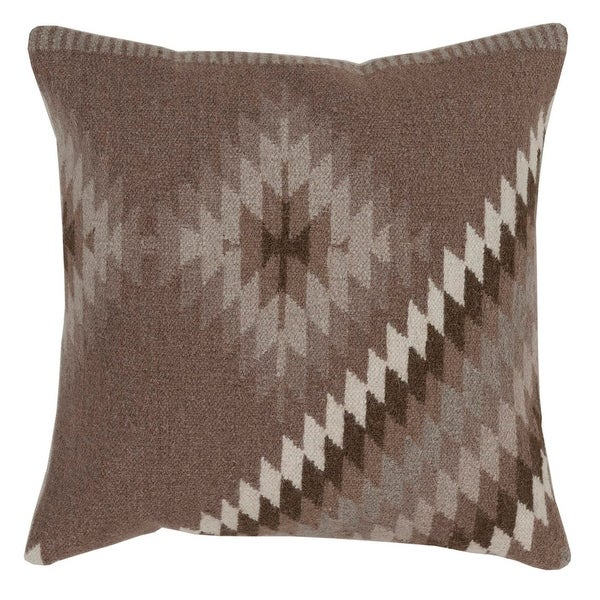 "22"" Smokey Brown and Silver Gray Decorative Throw Pillow"