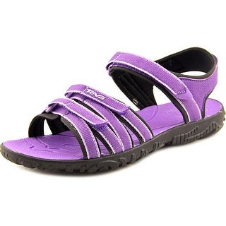 Teva TIRRA Youth Open-Toe Canvas Purple Sport Sandal