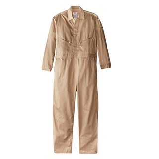 Walls Mens Khaki 42 Short Long Sleeve Twill Work Coverall
