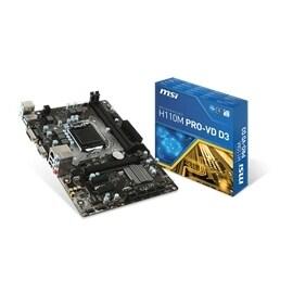 MSI Motherboard H110M Pro-VD Core i3/i5/i7 H110 LGA1151 DDR4 32GB SATA PCI  Express USB micro ATX Retail