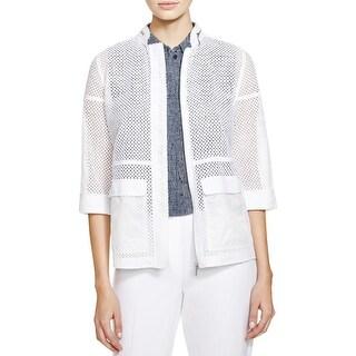 Elie Tahari Womens Briar Jacket Lace Mandarin Collar