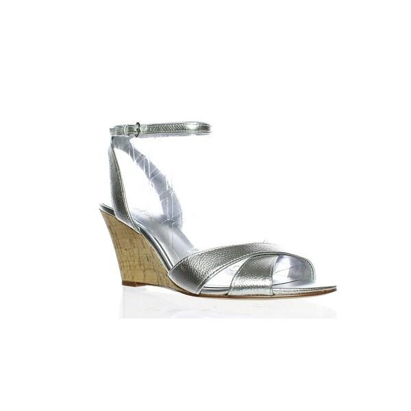 931eaddeb8d Shop Nine West Womens Kami Silver Ankle Strap Heels Size 7.5 - Free ...
