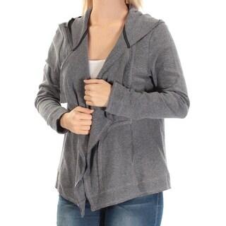 TOMMY HILFIGER $90 Womens New 1369 Blue Long Sleeve Open Cardigan Top S B+B