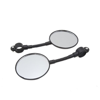 Link to 2 Pcs Black Round Shape Bicycle Bike Handlebar Safety Rear View Rearview Mirror Similar Items in Cycling Equipment