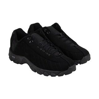 K-Swiss ST329 Mono CMF Mens Black Nubuck Athletic Lace Up Running Shoes