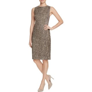 Three Dots Womens Bryce Casual Dress Cheetah Print Sleeveless