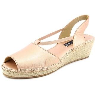 Steven Steve Madden Izzi Women Open Toe Leather Pink Wedge Sandal