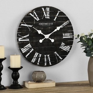 Link to FirsTime & Co. Nightfall Shiplap Wall Clock, American Crafted, Charcoal Shiplap, Wood, 18 x 1.75 x 18 in - 18 x 1.75 x 18 in Similar Items in Decorative Accessories