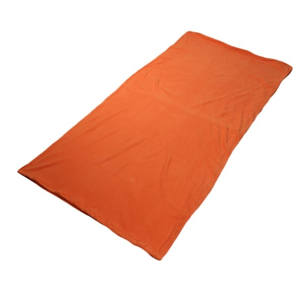 Outdoor Climbing Activities Portable Foldable Zipper Closure Sleeping Bag Orange