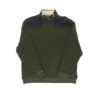 Izod Mens Fleece Contrast Trim Funnel-Neck Sweatshirt