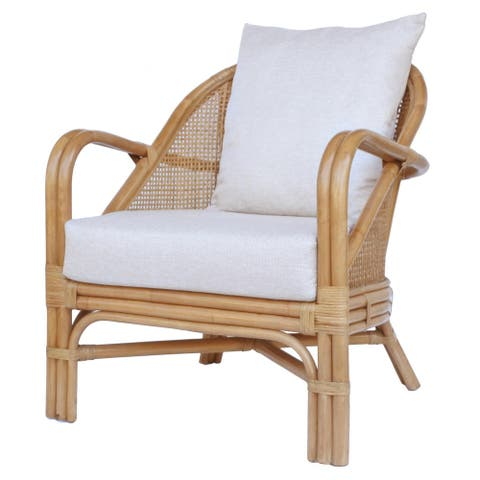 Whitney Rattan Accent Arm Chair