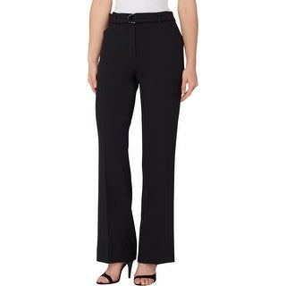 Tahari Womens Trouser Pants Crepe Belted