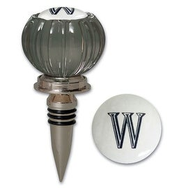 Cypress Home Door Knob Monogram Bottle Stopper Letter W