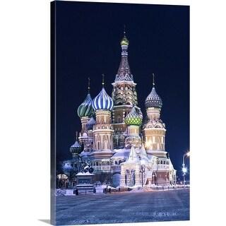"""Saint Basil's Cathedral"" Canvas Wall Art"