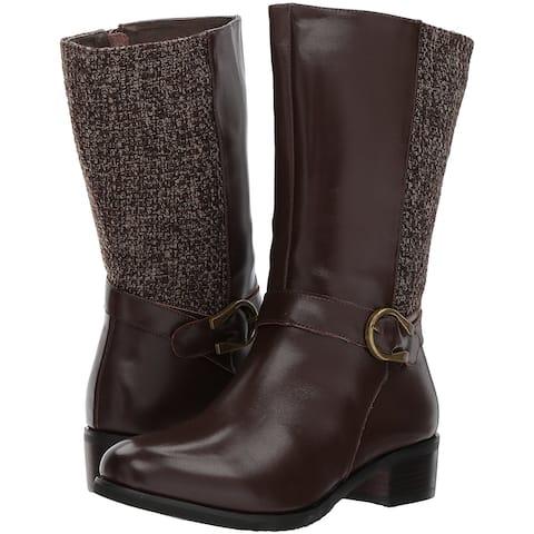 Propét Womens Tessa Fabric Closed Toe Mid-Calf Fashion Boots