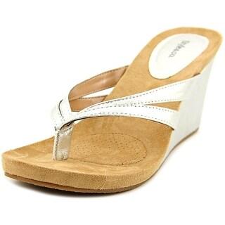 Style & Co Cassiee Women Open Toe Synthetic Silver Wedge Sandal