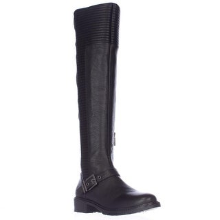 BCBGeneration Sigmond Multi Texture Over The Knee Boots - Black