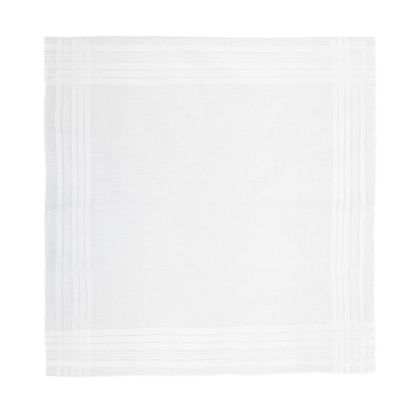 CTM® Men's Cotton Satin Banded Handkerchief - One size