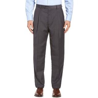 Lauren Ralph Lauren Dress Pants 44 Pleated Wool Total Comfort Big and Tall Grey