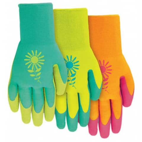 MidWest 66D4-S Ladies Latex Gripping Gloves, Assorted Colors, Small